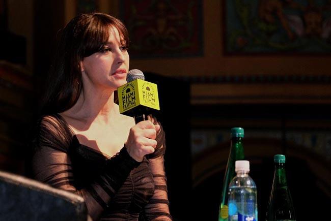 Actress Monica Bellucci speaks at the Miami International Film Festival in Miami, Florida, US, on 8 March 2016. EFE/Gaston De Cárdenas