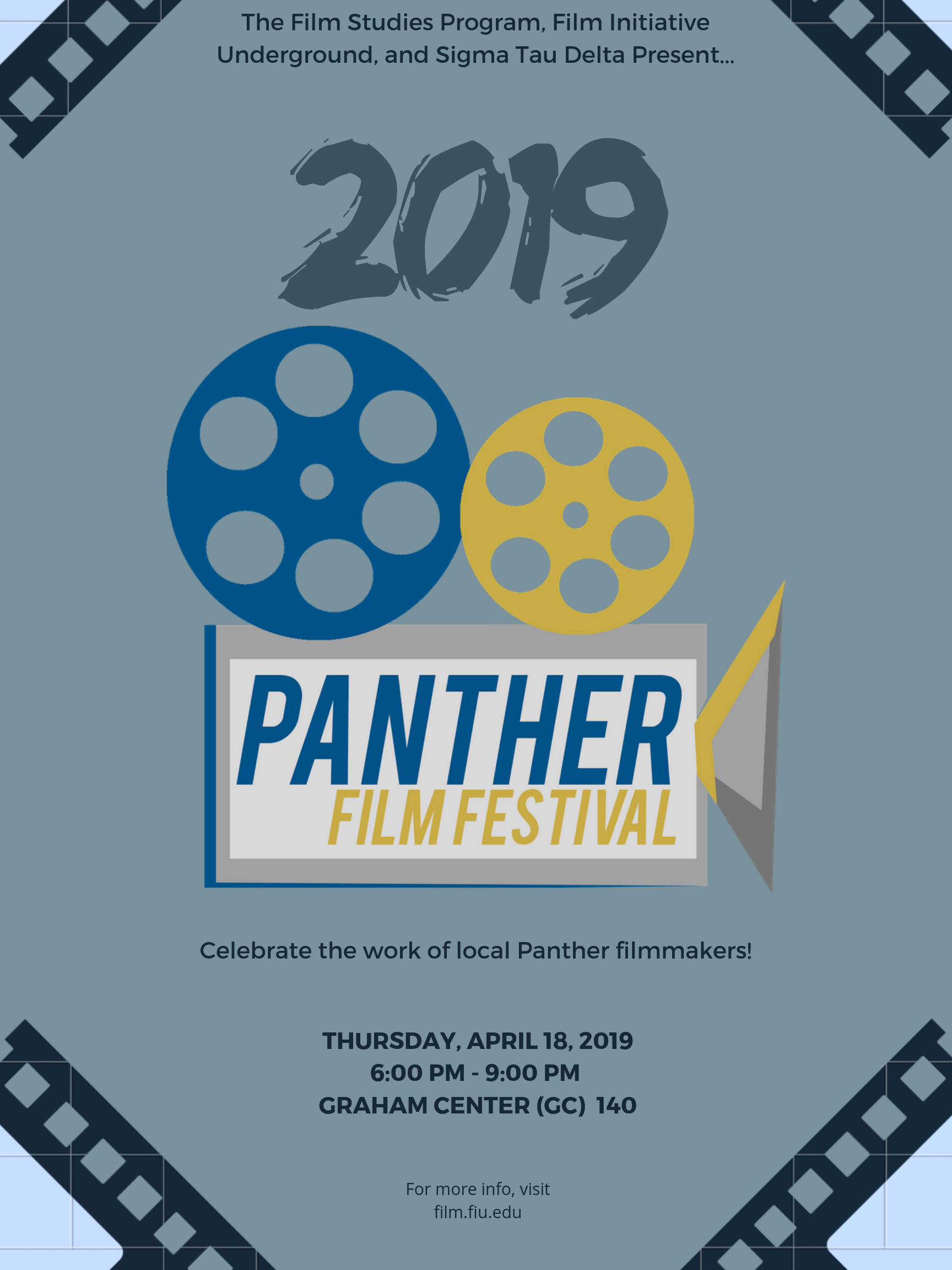 Panther Film Festival Thursday April 18, 2019 at 6 PM in GC 140